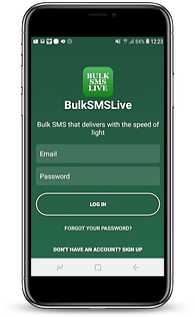 Screenshot of BulkSMSLive app